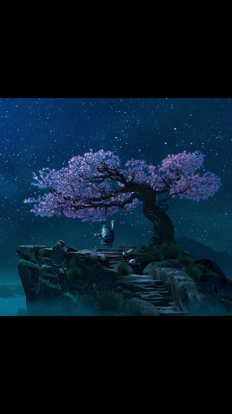 Master Oogway And His Peach Tree Would Be Nice To Paint It King Fu Panda Panda Tree Panda Art