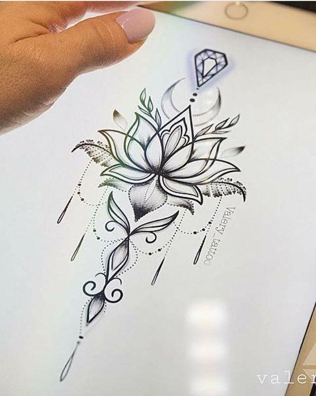 tatoo #flowers #lotus #single
