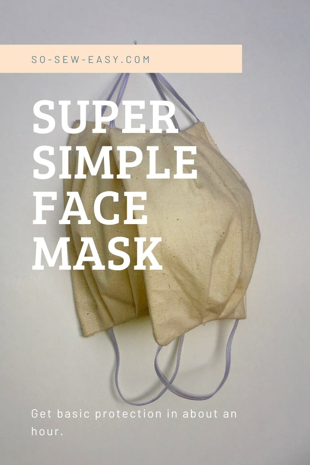 Super Simple Face Mask Pattern For Adults And Kids In 2020 Easy Sewing Simple Face Household Sewing