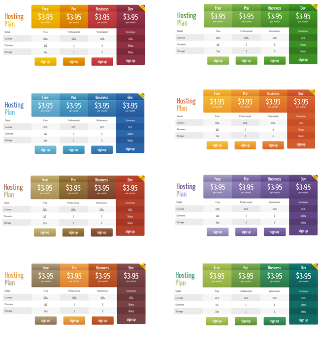 Wordpress Pricing Table Plugin Pro  Pricing Table Template And