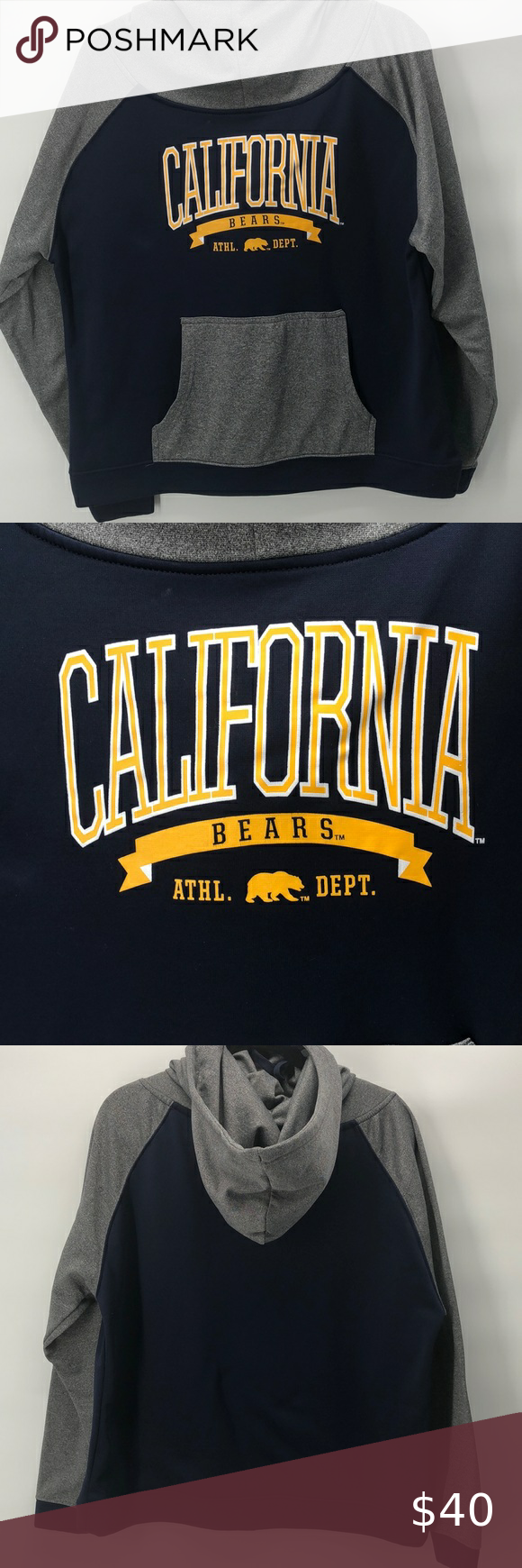 Champion California Berkeley Hoodie Sweatshirt Gray And Blue California Berkeley Hoodie Sweatshirt Oversize Sl Sweatshirts Sweatshirts Hoodie Sweatshirt Tops [ 1740 x 580 Pixel ]