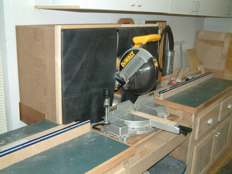 Miter Saw Dust Collection Hood Ohhh An Organized Shop