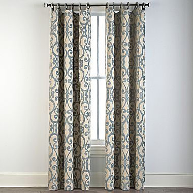 Family Room Cindy Crawford StyleR Palais Grommet Top Drapery Panel