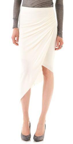 helix asymmetrical skirt ++ helmut lang