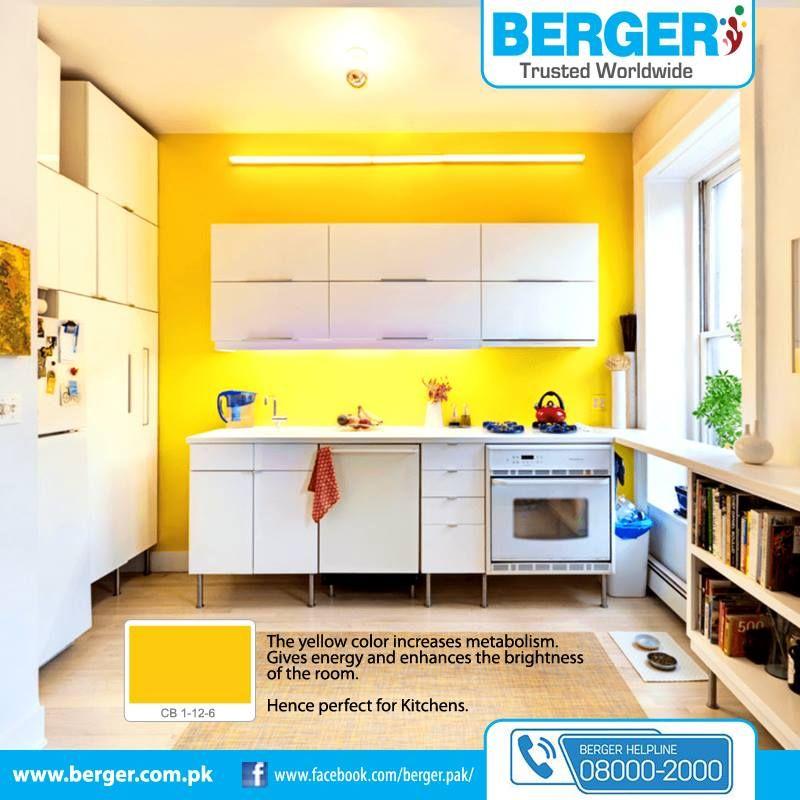 Red And Yellow Kitchen Walls: #berger #bergerpaintpakistan #bergerpaint #jeenaykayrang