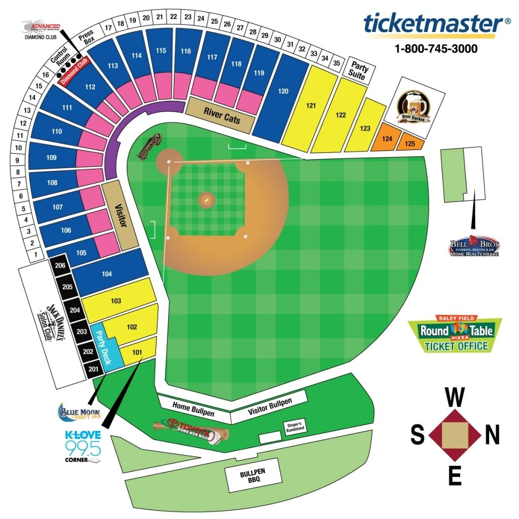 Brilliant Raley Field Seating Chart Di 2020