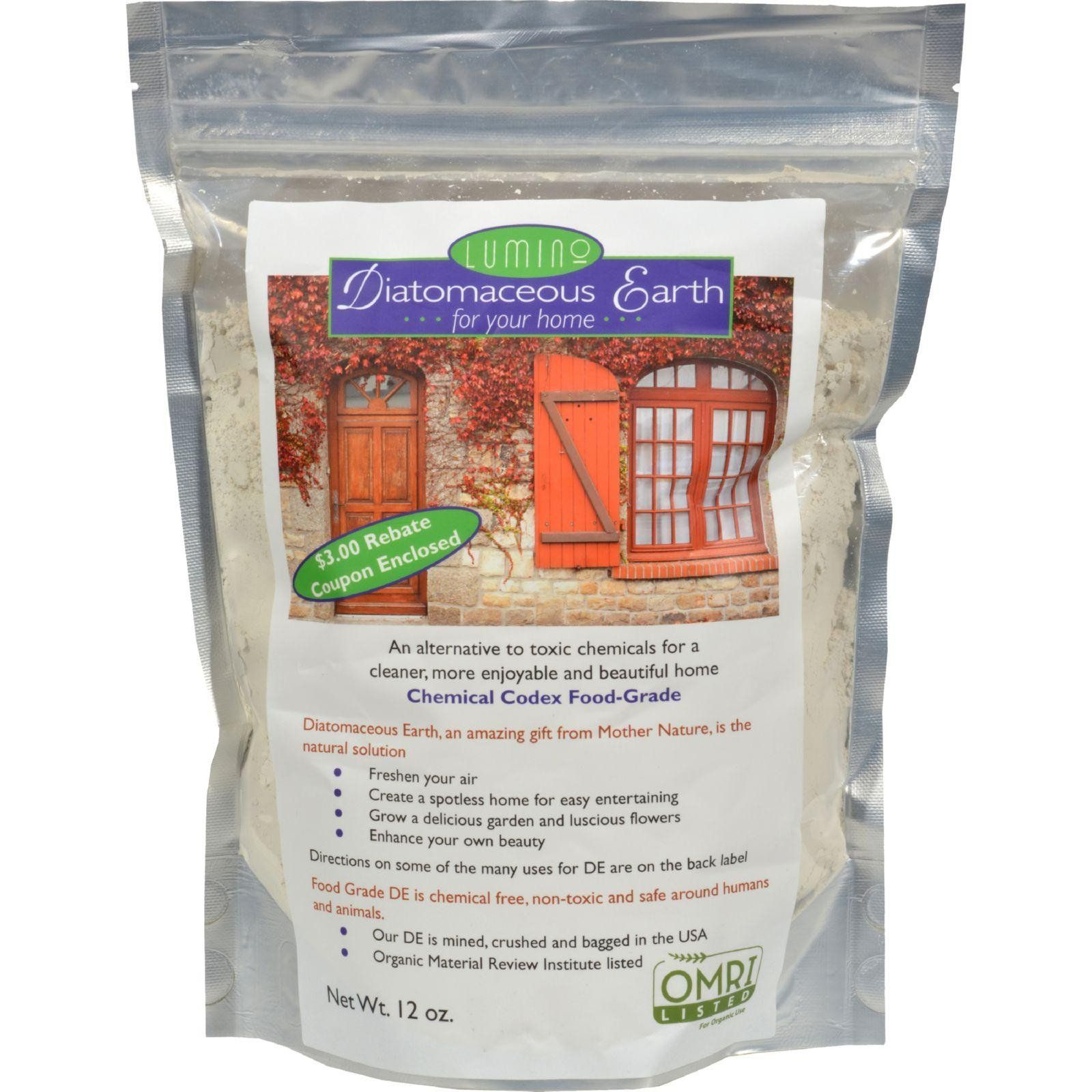 Lumino Diatomaceous Earth For Your Home 12 Oz Natural