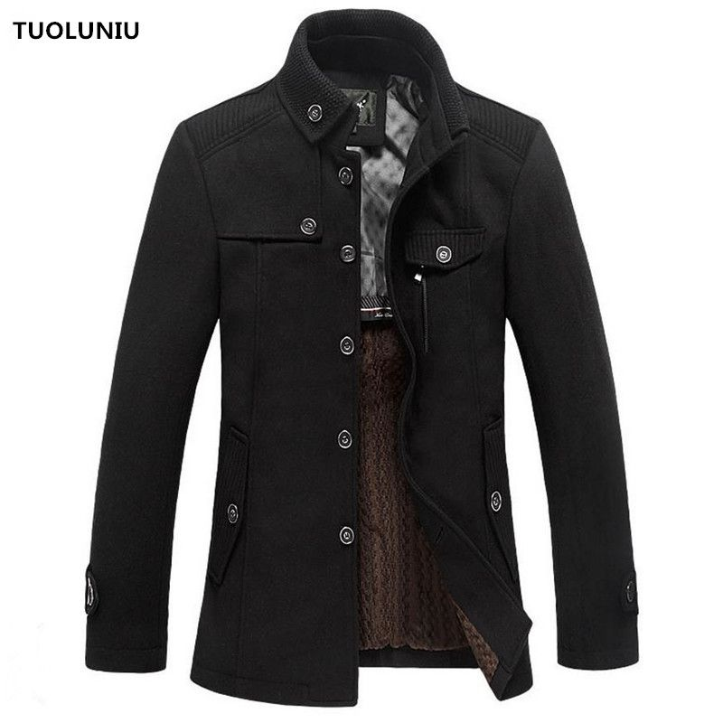 2017 Hot autumn and winter high-quality men's jacket stitching casual coat woolen jacket free shipping *** AliExpress Affiliate's buyable pin. Details on product can be viewed on www.aliexpress.com by clicking the image #Men'swool & blend coats