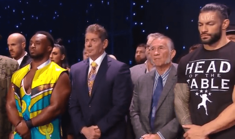Vince Mcmahon Gerald Brisco And Wwe Roster Paid Tribute To Pat Patterson On Friday Night Smackdown Wrestling News Pat Patterson Vince Mcmahon Wrestling News