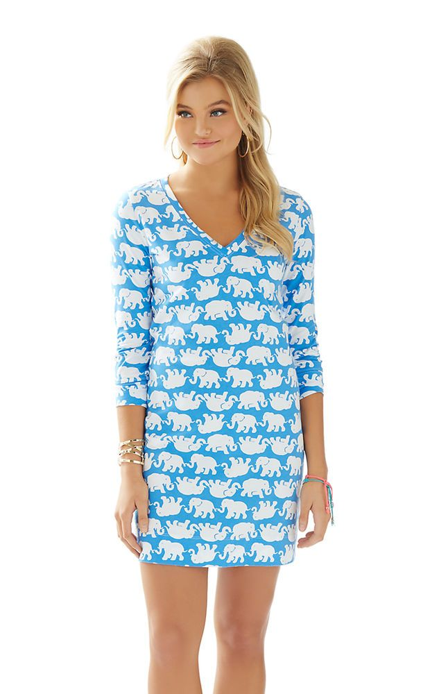 0cd3de69ad80d8 Lilly Pulitzer NWT Christie Dress Bay Blue Tusk In The Sun $98 Style ...