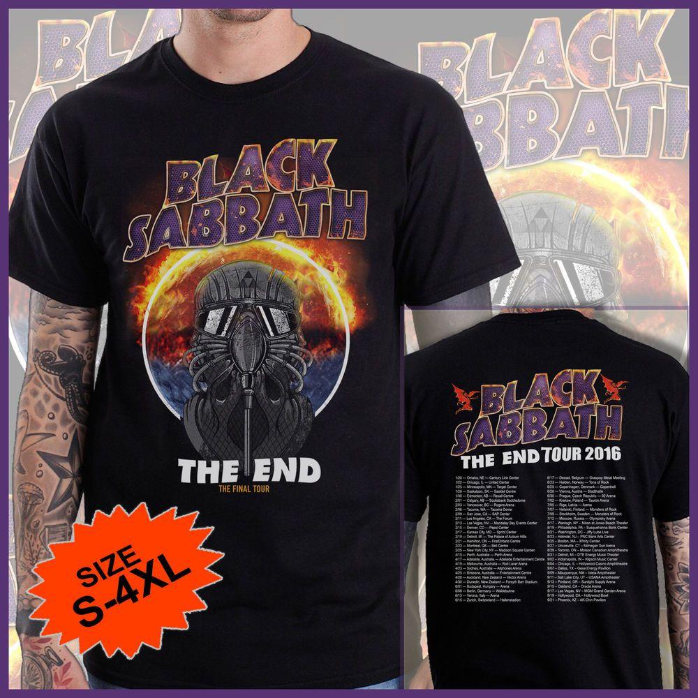 Black sabbath t shirt xxl - Black Sabbath The End Tour Dates 2016 Custom Design Limited T Shirt Tee Shirt 1