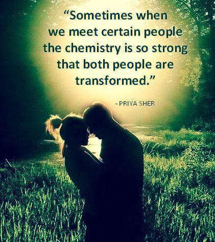 What is chemistry between a man and woman