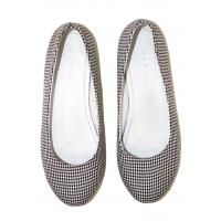 ExtraSeed Recycled Flats in black white tweed
