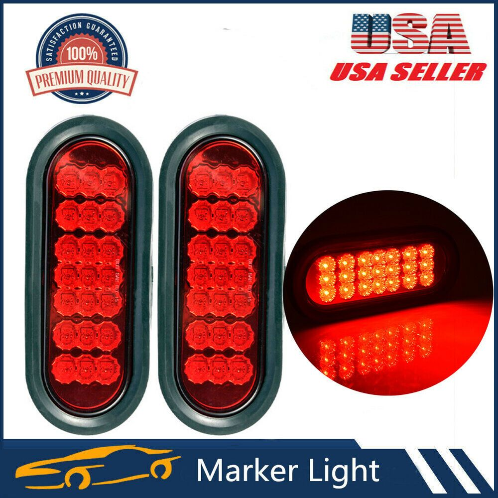 Specification 6 1 2 Led Oval Sealed Stop Turn Tail Lights 21 Super Diodes Led Light Is 2 5 16 X 6 7 16 Oval 1 Thick 1 75 Plugs Grommets Rubber Grommets