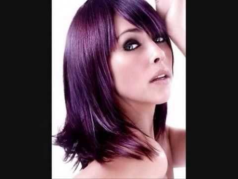 Resultado de imagen de color de cabello lila berenjena