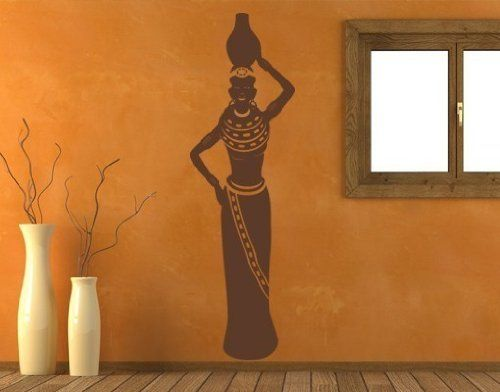 Style Apply African Woman II Wall Decal Sticker Mural - Custom vinyl wall decals falling off