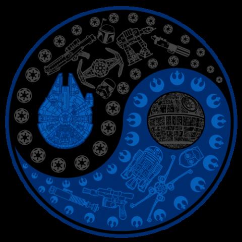 Yin Yang Wars Star Wars T Shirt From Bluebutter Submitted Yin Yang Star Wars Images Star Wars Room