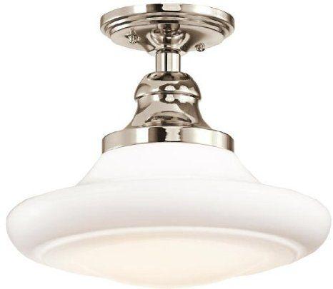 Kichler Lighting 42270pn 1 Light Keller Semi Flush Pendant