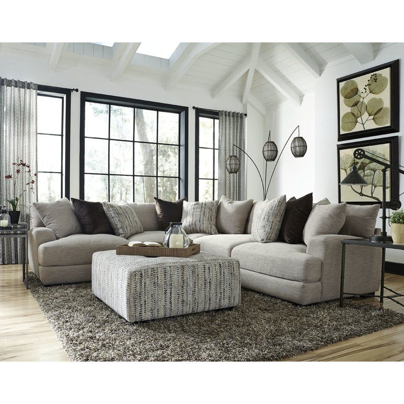 You Ll Love The Sabine Reversible Sectional At Wayfair Great Deals On All Furn Gray Sectional Living Room Modern Furniture Living Room Farm House Living Room