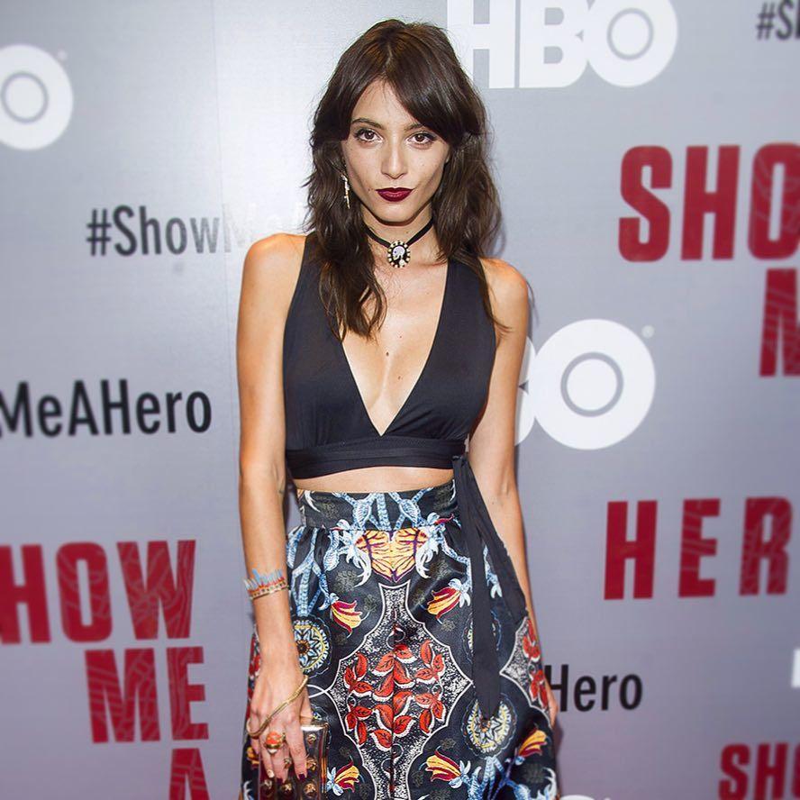 """La actriz argentina Carla Quevedo durante la presentación en New York de la miniserie de HBO """"Show Me A Hero"""", en la que actú"""