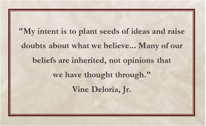 Think for yourself, and form your own ideas, beliefs and opinions...