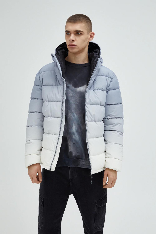 Reflective Ombre Puffer Jacket Pull Bear Jackets Coats Jackets Puffer Jackets [ 1500 x 1000 Pixel ]