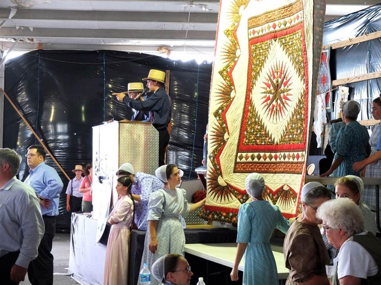 The Leola Benefit Auction, a live quilt auction, is held