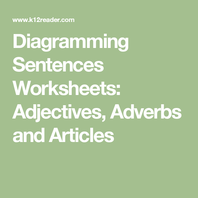 Diagramming sentences worksheets adjectives adverbs and articles diagramming sentences worksheets adjectives adverbs and articles ccuart Images