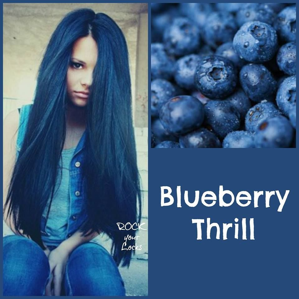 Blueberry hair colour inspiration blue hair rock your locks