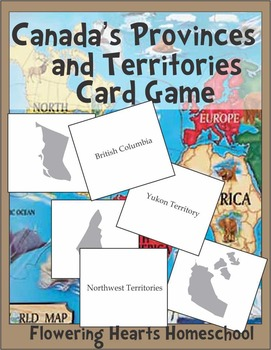 canada map provinces and territories card game the bee tree canada for kids geography. Black Bedroom Furniture Sets. Home Design Ideas