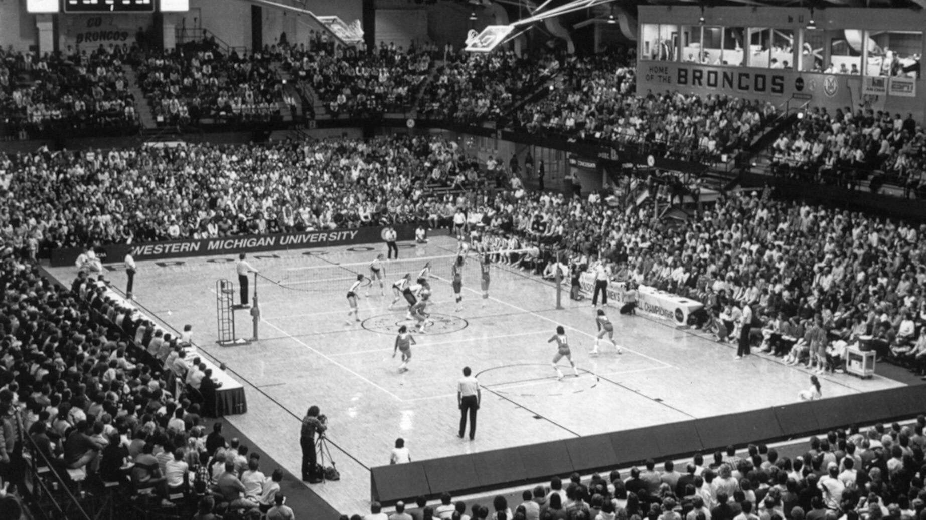 1985 Ncaa Championship Wmu Volleyball Net Volleyball Outdoor Volleyball Net