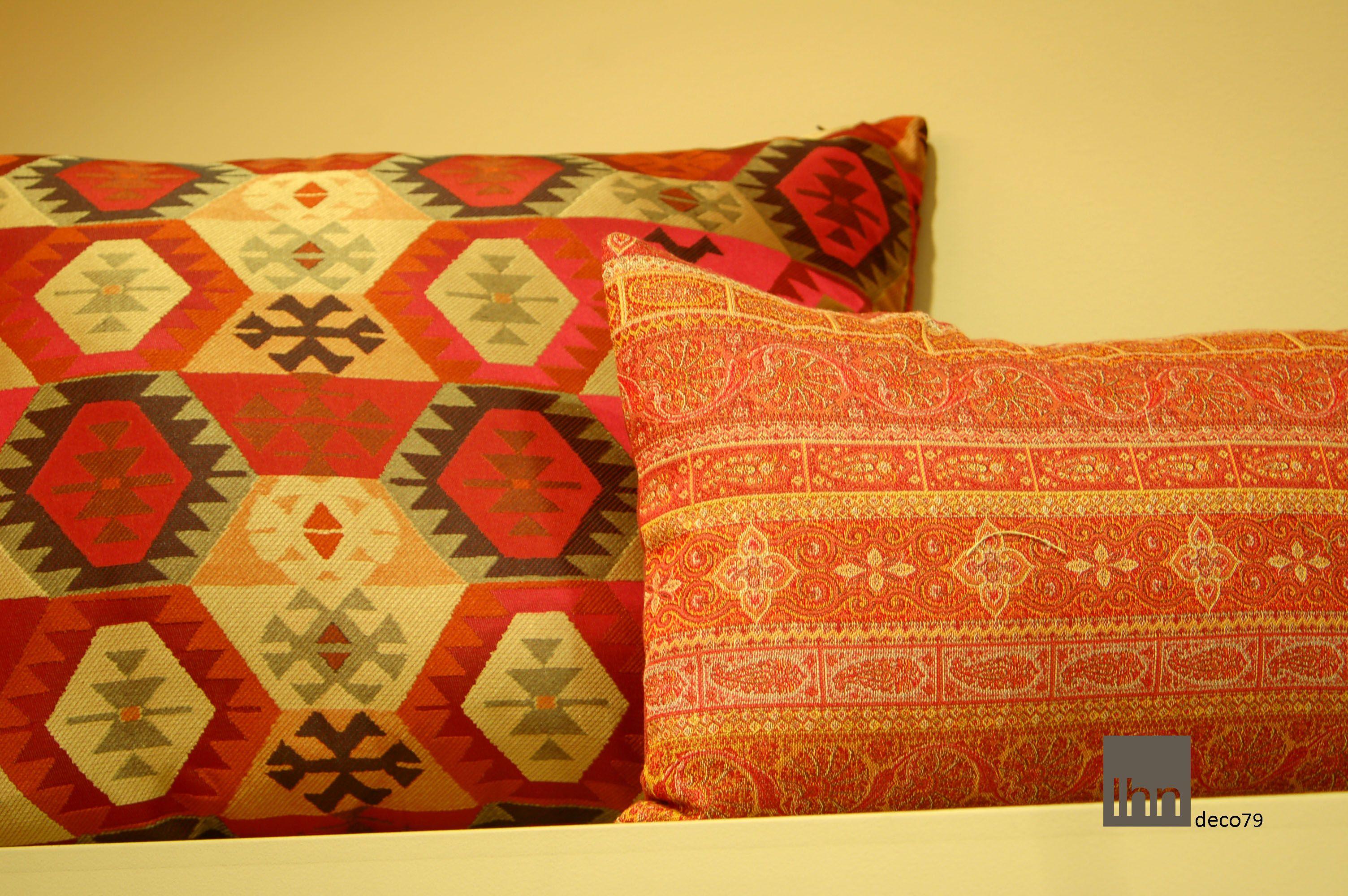 #Cojines  gama de rojos, #outletdetelasvalencia, #telas