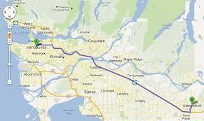 Map Vancouver to Abbotsford BC Google Search Vancouver