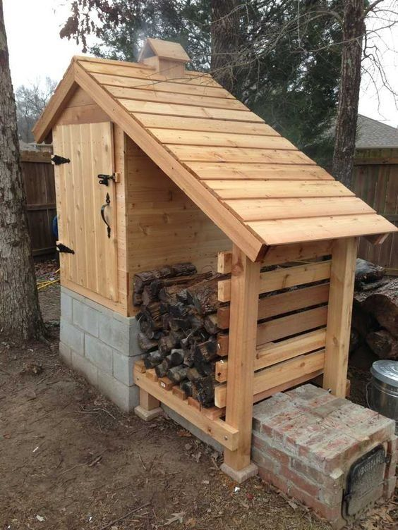 diy complete instructions to build amazing cedar smokehouse - Smoking House Designs