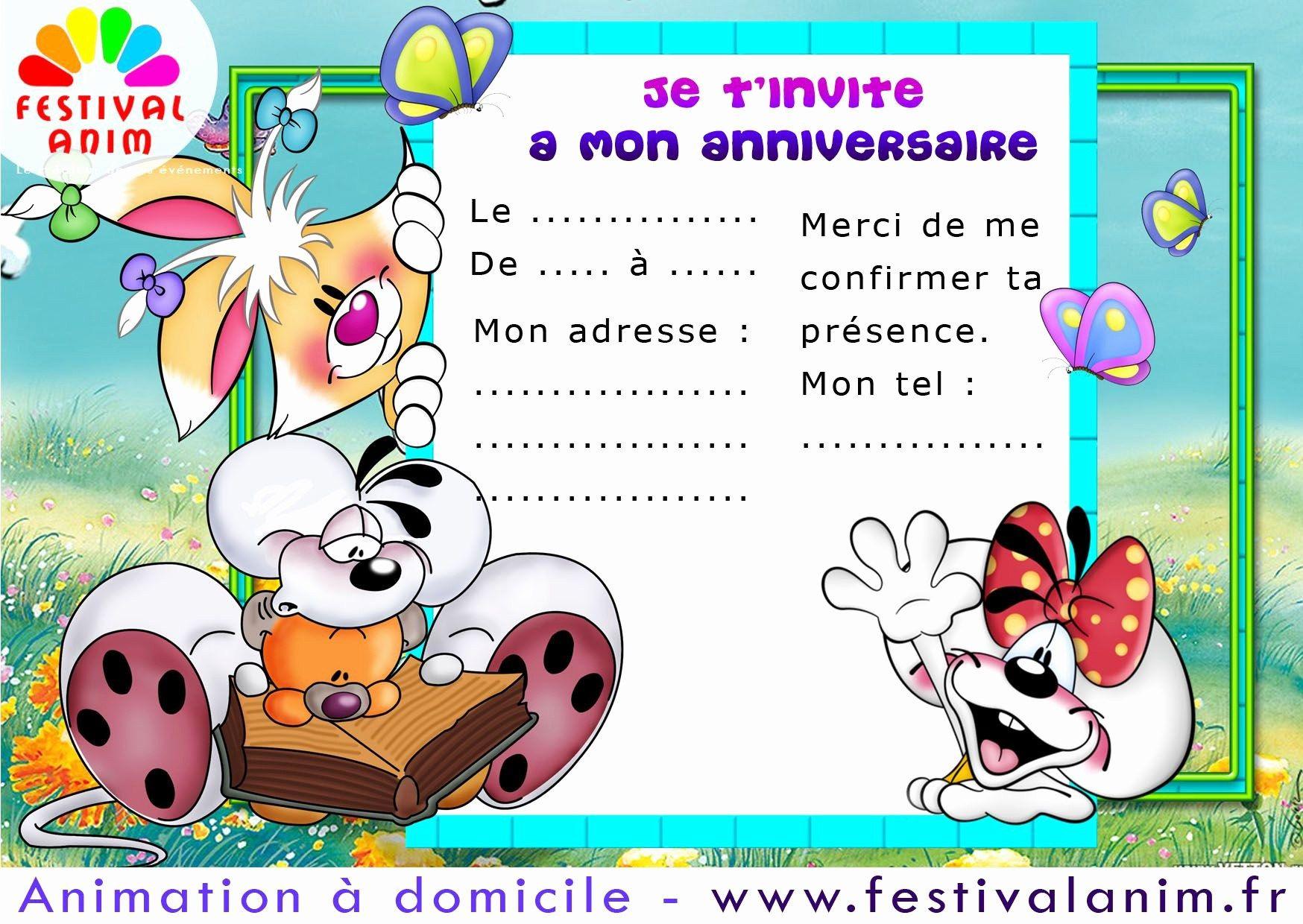 d invitation anniversaire gratuite