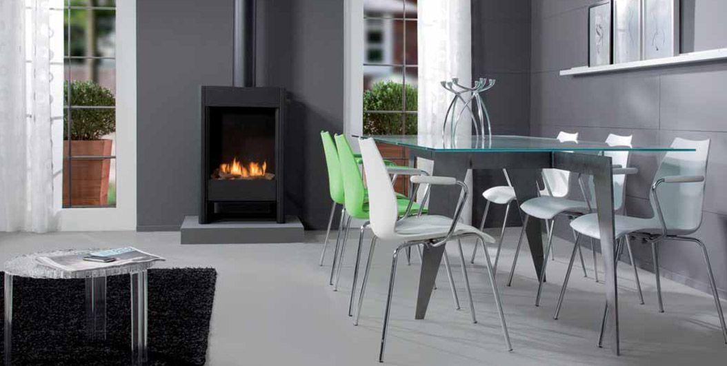 pingl sur poele gaz confort design po le gaz d coration. Black Bedroom Furniture Sets. Home Design Ideas