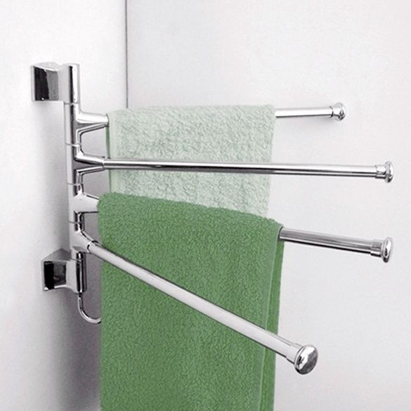 'Stainless Steel Polished Towel Rack Holder Kitchen Bathroom Hardware Accessory' on Wish