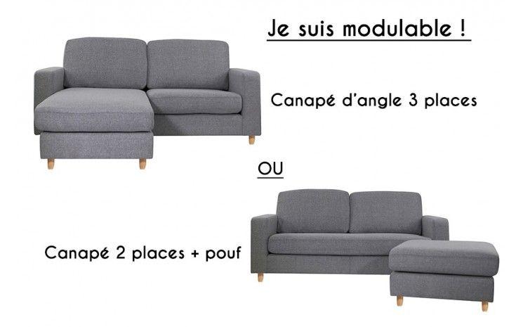 Canape D Angle Modulable 3 Places Rabat Gris Souris Petit
