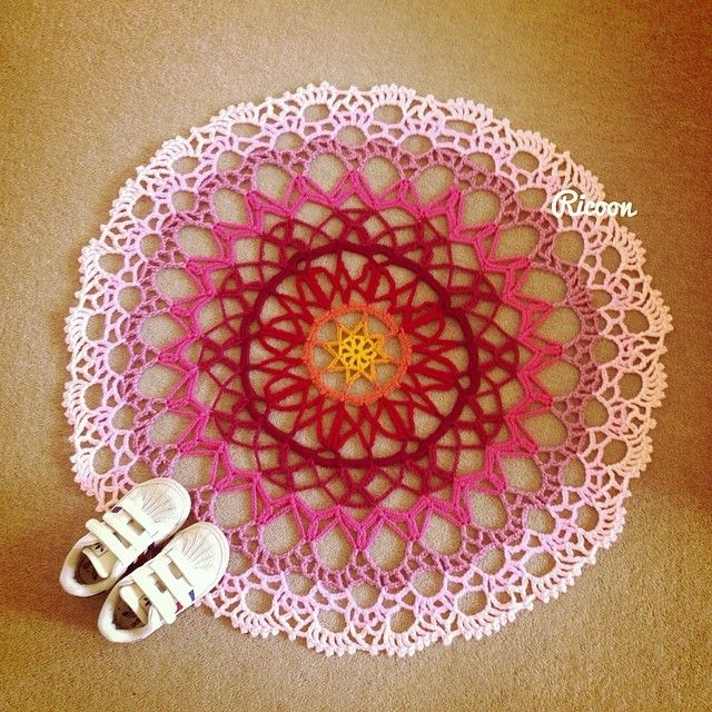 Mandala room mat for my daughter : )