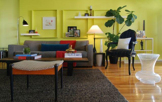 Wohnzimmer Farbgestaltung \u2013 28 Ideen in Grün wohnzimmer - Wohnzimmer Design Grun