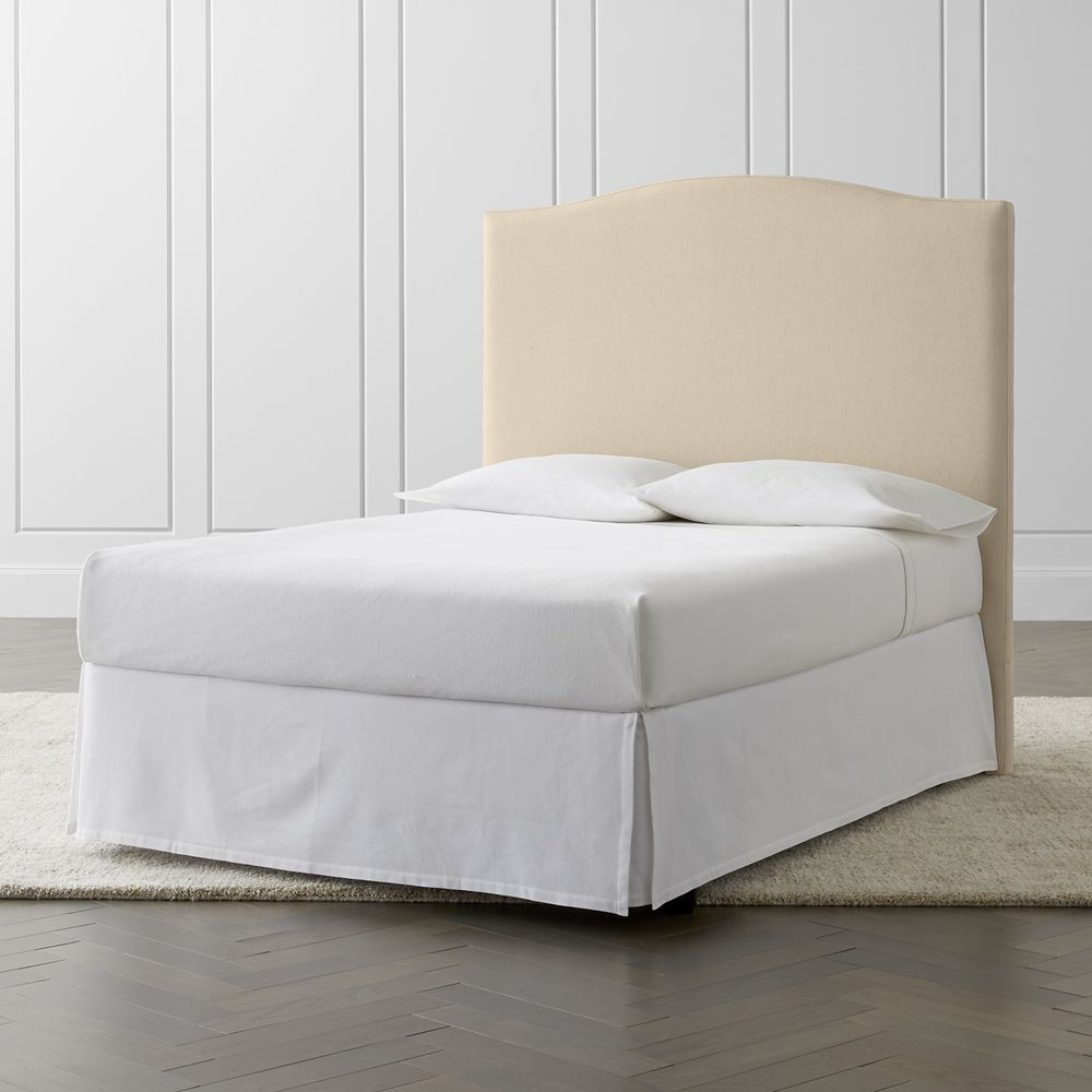 Colette full upholstered headboard without nailheads