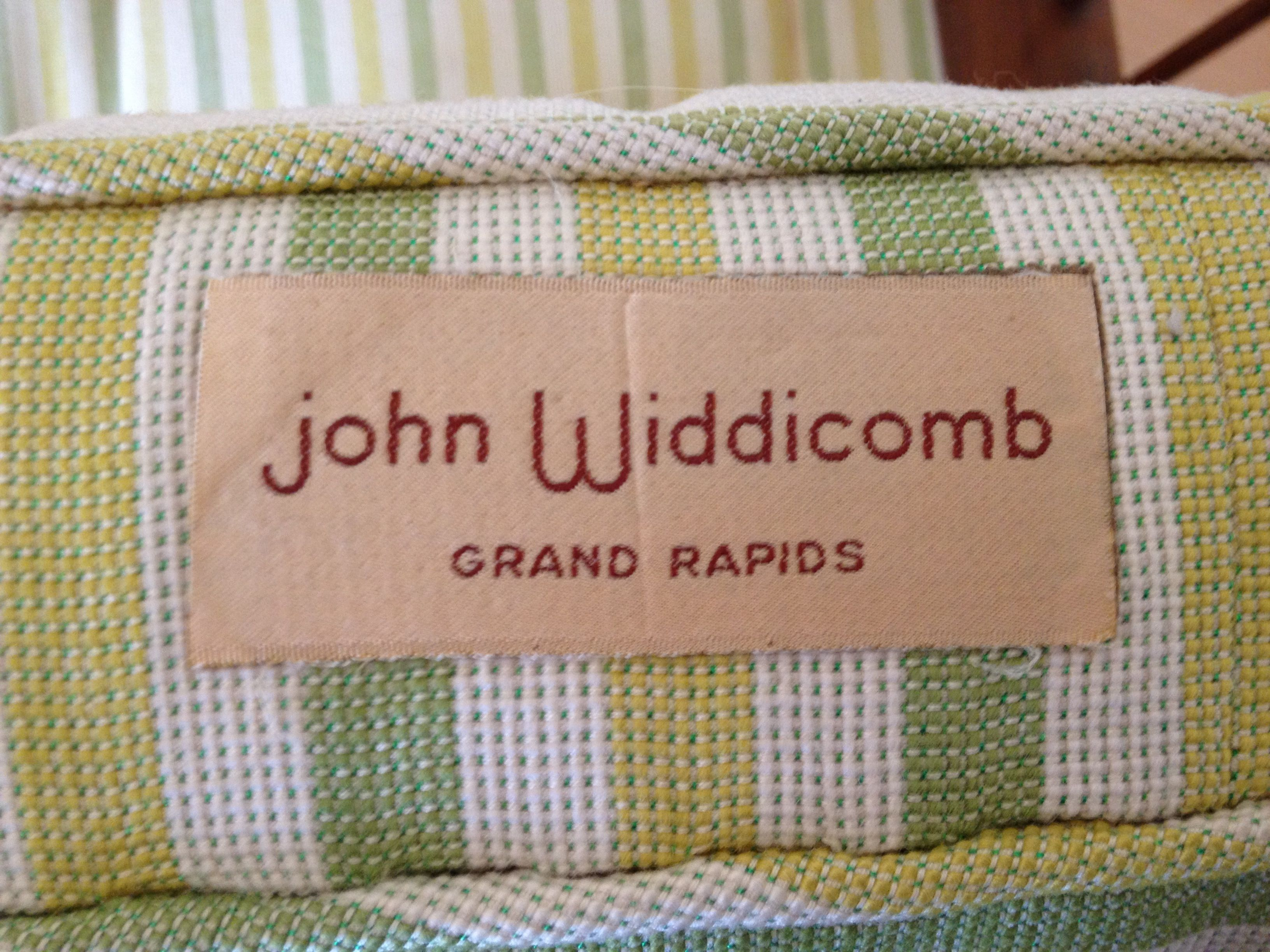Original Upholstery Tag On Side Of John Widdicomb Chair, Widdicomb Grand  Rapids, Mid Century. Mid Century Modern ChairsMid ...