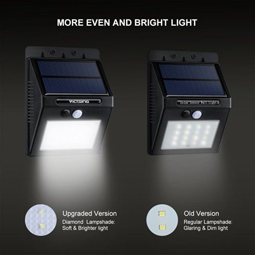 driveway detector victsing 16led solar power lights waterproof outdoor wall