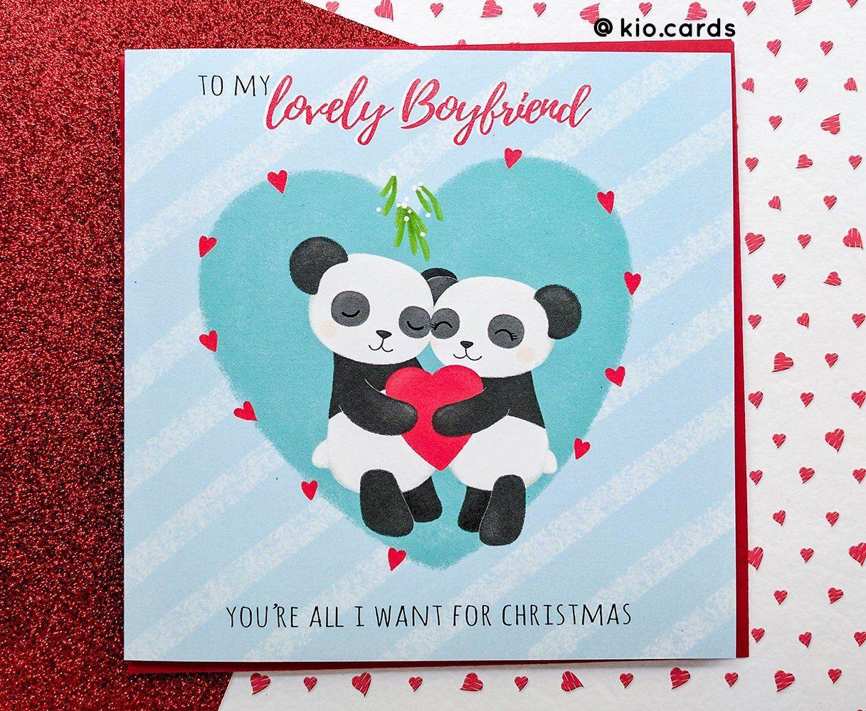 Christmas Boyfriend Card, Romantic Christmas Card, All I