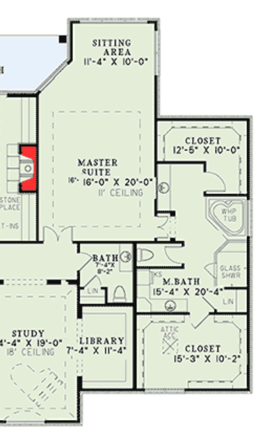 Plan 15786ge Split Suite Vacation Home Plan Master Suite Floor Plan Single Level House Plans Unique House Plans