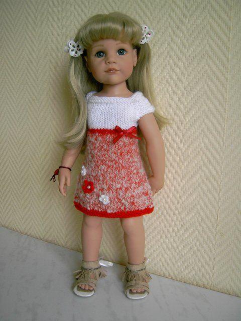 Схемы вязанных платьев спицами для кукол