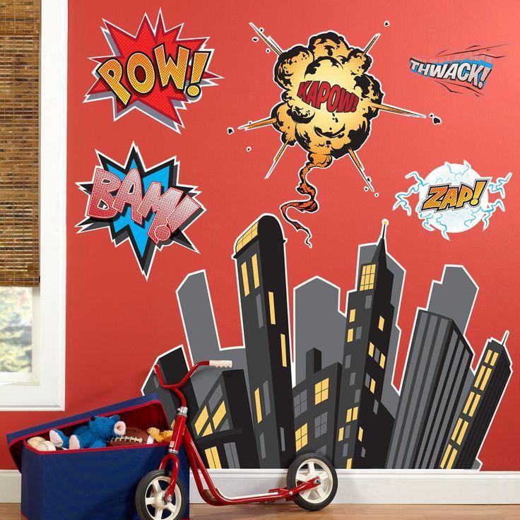 Large Superhero Wall Decals Kids Rooms Pinterest Wall - Superhero wall decals for kids rooms