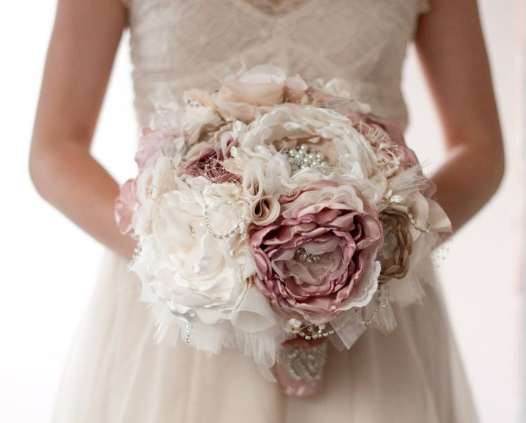 Fabric Flower Bouquet Tutorial images | weding ideas diy | Pinterest ...