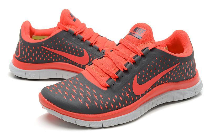 Autor deseable gancho  zapatos gris con naranja | Nike running shoes women, Nike free, Running  shoes nike free