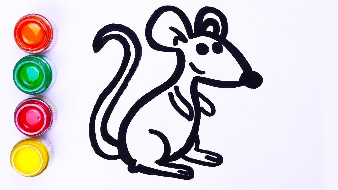 Mudah Menggambar Dan Melukis Mouse Hewan Langkah Demi Langkah